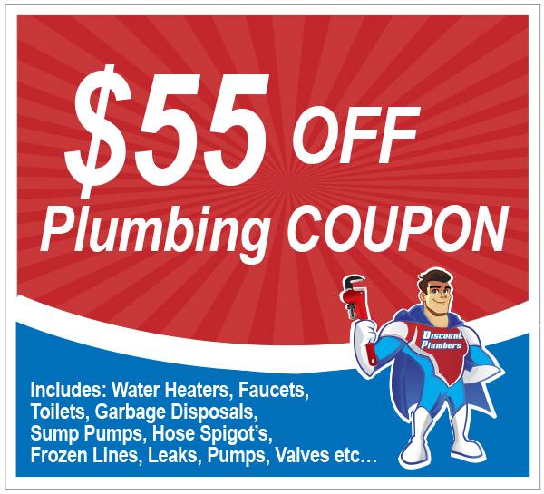55 Dollar Off Plumbing Coupon Discount Plumbers
