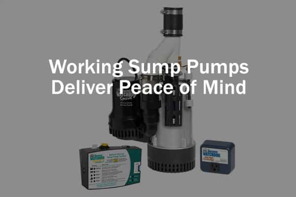 Working Sump Pumps Deliver Peace of Mind